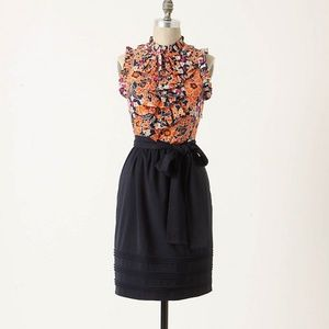 Navy Girls from Savoy Vestiges Floral Ruffle Dress